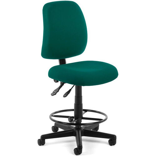 Our Posture Adjustable Height Task Chair with Drafting Kit - Teal is on sale now.