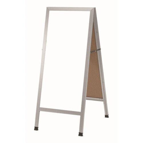 Our A-Frame Sidewalk White Melamine Marker Board with Aluminum Frame - 42