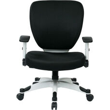 Space Pulsar Padded Mesh Seat and Back Managers Office Chair - Black