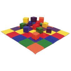 Ultra-Soft Phthalate Free Preschool Patchwork Floor Mat with 5.5