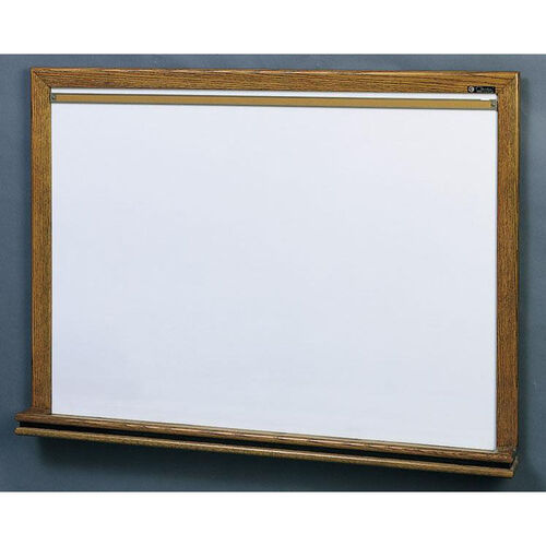 210 Series Porcelain Markerboard with Wood Frame - 48