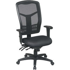 Pro-Line II ProGrid® Mesh High Back Chair with Adjustable Arms and Seat Slider - Black