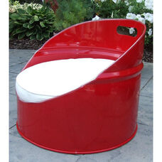 SS 396 Steel Drum Gaming Chair with White Accents