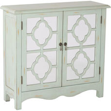 Inspired By Bassett Bayview Storage Console Mirror Accents - Antique Mint