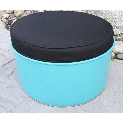 Our Stormy Mountain Steel Drum Ottoman with Black Accents is on sale now.