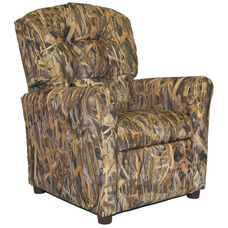 Kids Recliner with Button Tufted Back - Flooded Timber