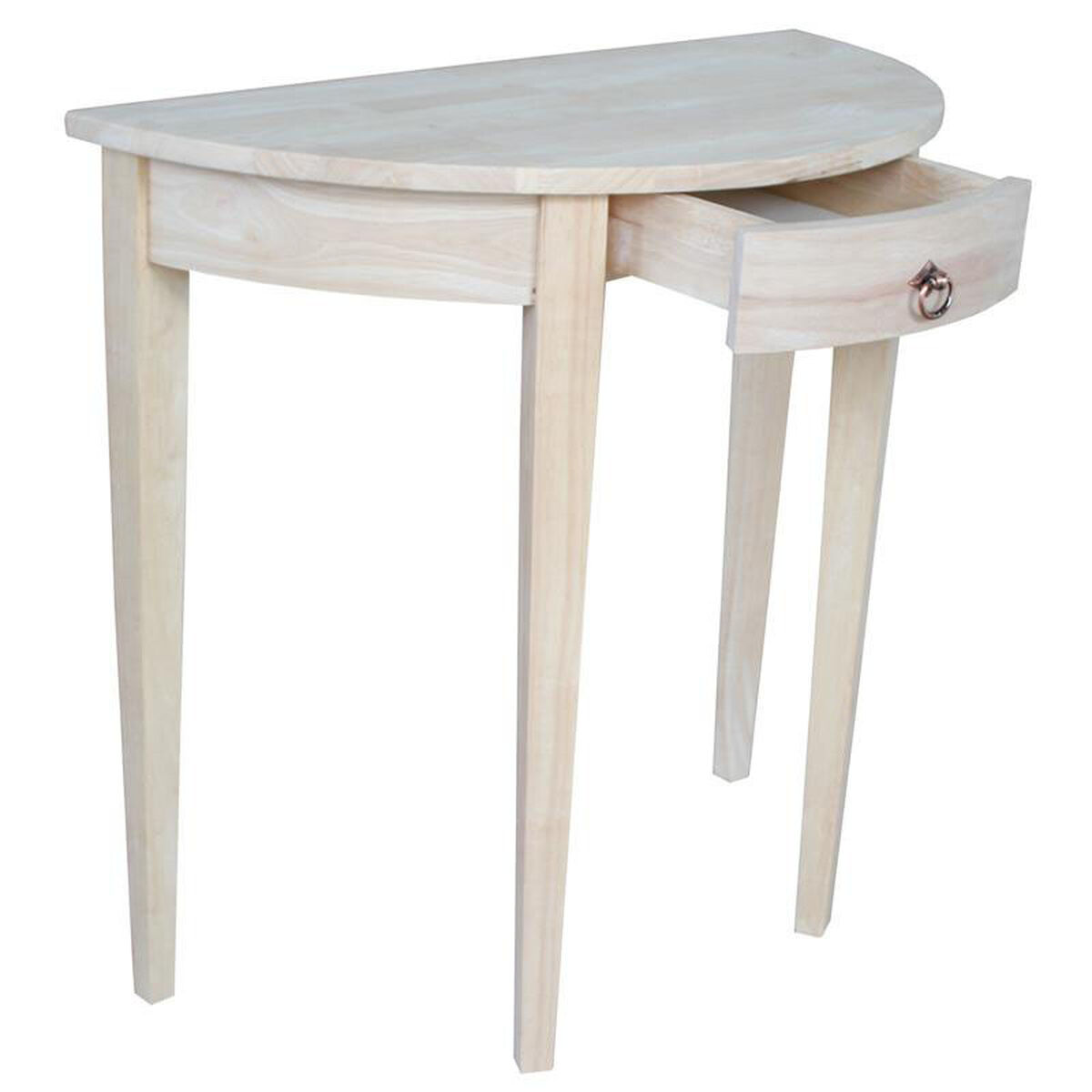 Our Butcher Block Top Solid Parawood 32 W X 31 H Half Round