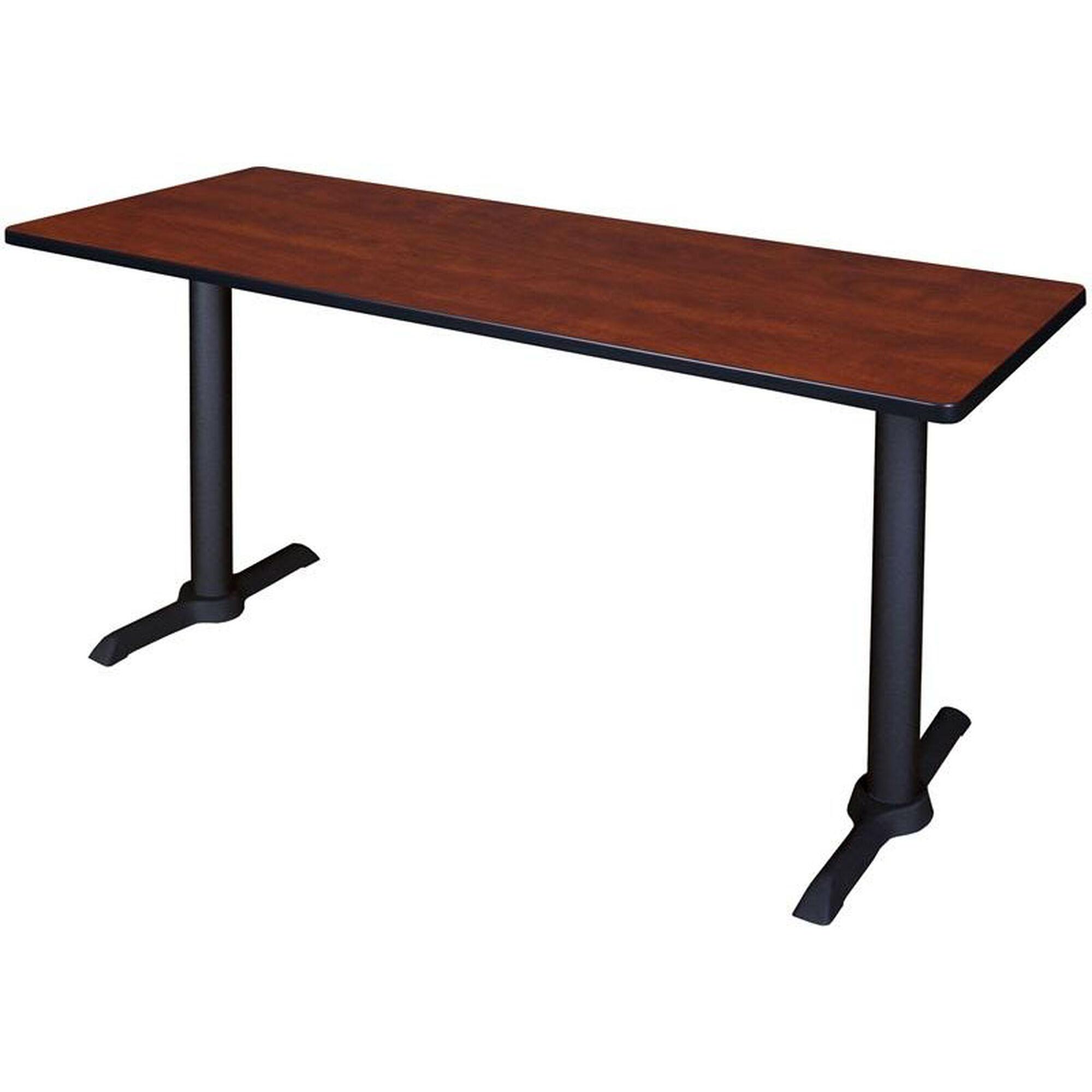 Cain 60''W x 24''D Laminate Training Table with PVC Edge - Cherry