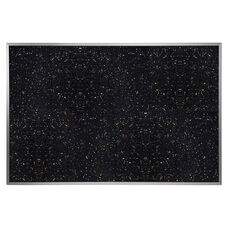 Recycled Aluminum Frame with Recycled Rubber Tackboard - Confetti Speck - 4