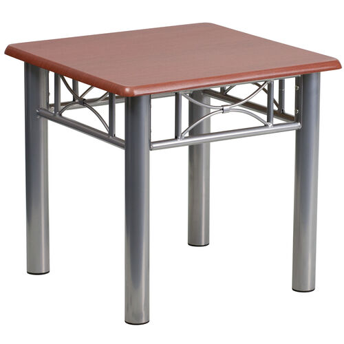Our Mahogany Laminate End Table with Silver Steel Frame is on sale now.