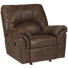 Signature Design by Ashley Bladen Rocker Recliner in Coffee Faux Leather