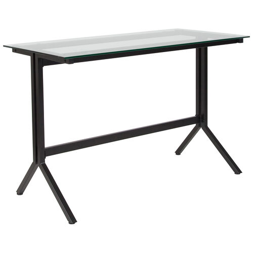 Our Highland Collection Glass Computer Desk with Black Metal Frame is on sale now.