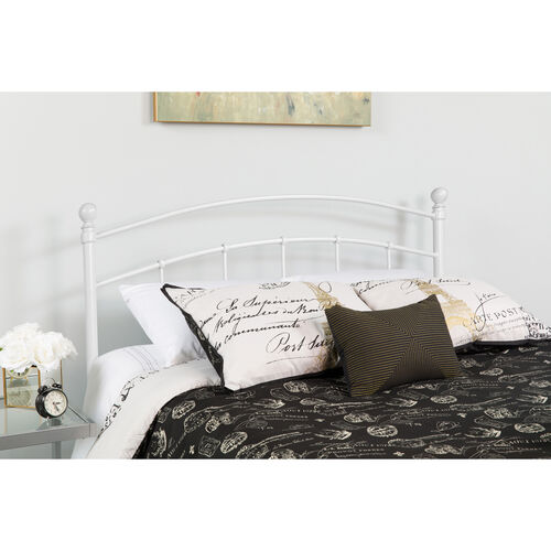 Our Woodstock Decorative White Metal Twin Size Headboard is on sale now.