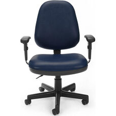 Straton Series Anti-Microbial and Anti-Bacterial Vinyl Task Chair with Arms - Navy