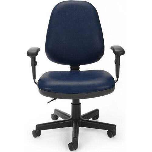 Our Straton Series Anti-Microbial and Anti-Bacterial Vinyl Task Chair with Arms - Navy is on sale now.