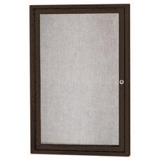 1 Door Outdoor Enclosed Bulletin Board with Black Powder Coated Aluminum Frame - 36