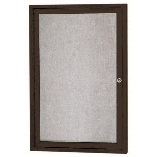 Our 1 Door Outdoor Enclosed Bulletin Board with Black Powder Coated Aluminum Frame - 36