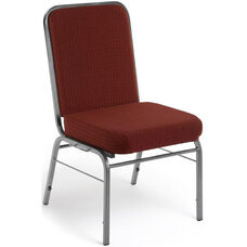Comfort Class 300 lb. Capacity Stack Chair - Pinpoint Burgundy Fabric