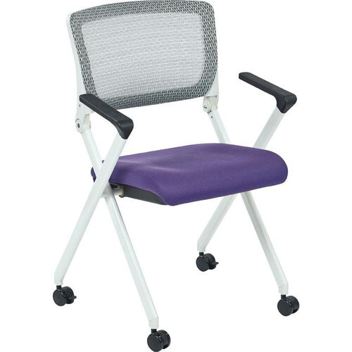 Our Space Pulsar Folding Chair with Breathable Mesh Back and Mesh Fabric Seat - Set of 2 - Purple is on sale now.