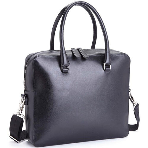 Our RFID Blocking Travel Briefcase - Saffiano Genuine Leather - Black is on sale now.