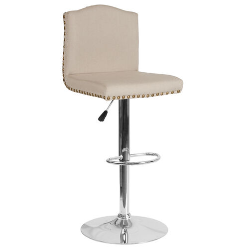 Our Bellagio Contemporary Adjustable Height Barstool with Accent Nail Trim in Beige Fabric is on sale now.