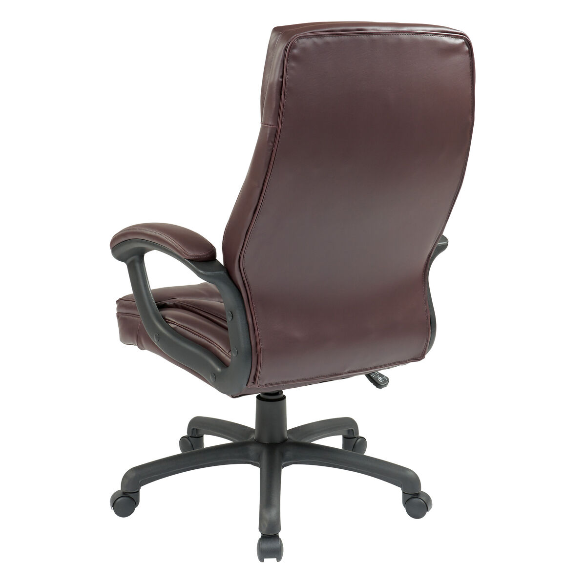 Our Work Smart Executive High Back Eco Leather Office Chair With Seat Adjustment