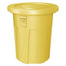 35 Gallon Cobra Food Grade/General Use Trash Can - Yellow