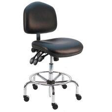 Premium HD Cleanroom Class 100 Vinyl Chair - Chrome Base