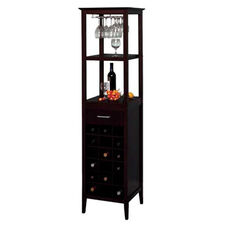 Wine Tower with Glass Rack