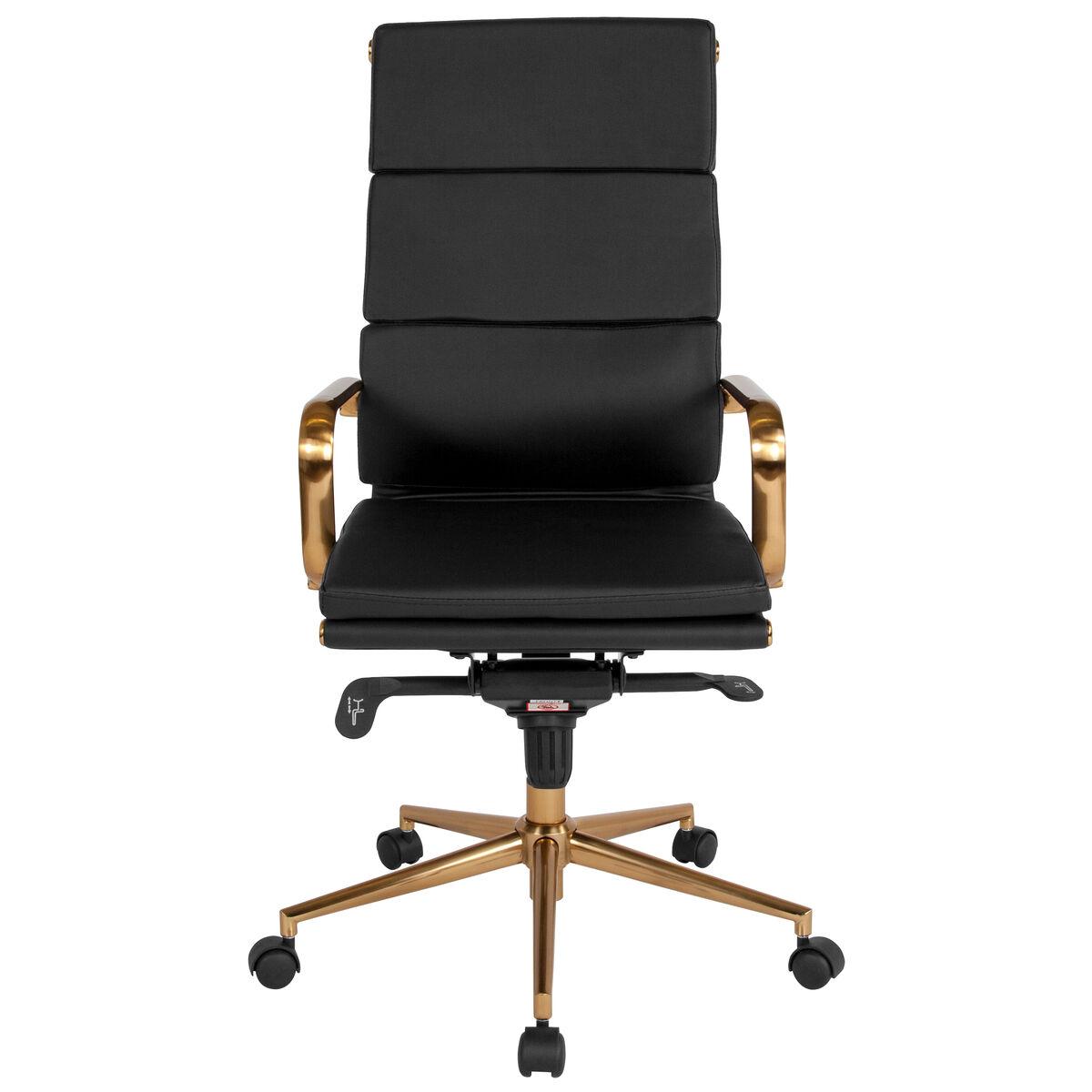 Black High Back Office Chair Bt 9895h 6 Bk Gd Gg