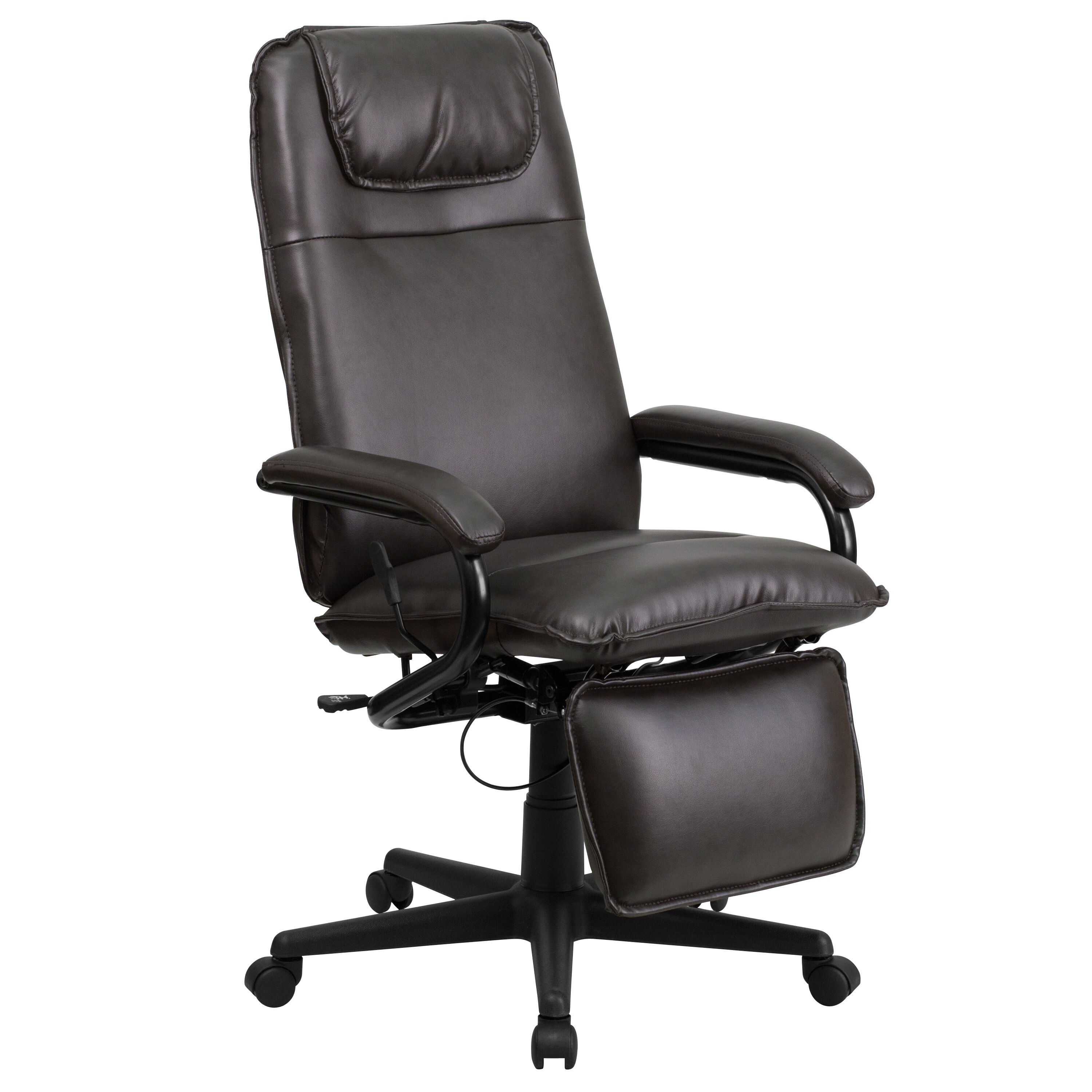 ... Our High Back Brown Leather Executive Reclining Swivel Chair With Arms  Is On Sale Now.