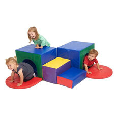 SoftZone® Bright Colors and Shapes Foam Beginners Corner Tunnel Maze Climber