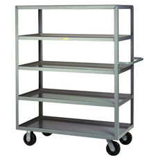 Welded Truck with Push Handle and 5 Lipped Shelves - 30