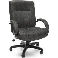 Big & Tall Executive Mid-Back Chair - Gray Carbon