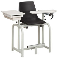 Standard Lab Series Extra Tall Blood Drawing Chair with ClintonClean™ Flip Arm and Drawer