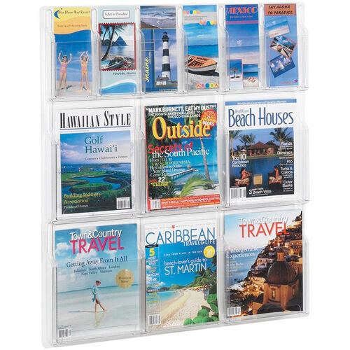 Our Reveal™ Six Magazine and Six Pamphlet Thermoformed Display - Clear is on sale now.