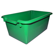 Versatile Scoop Front Plastic Storage Bins - Green - 11.5