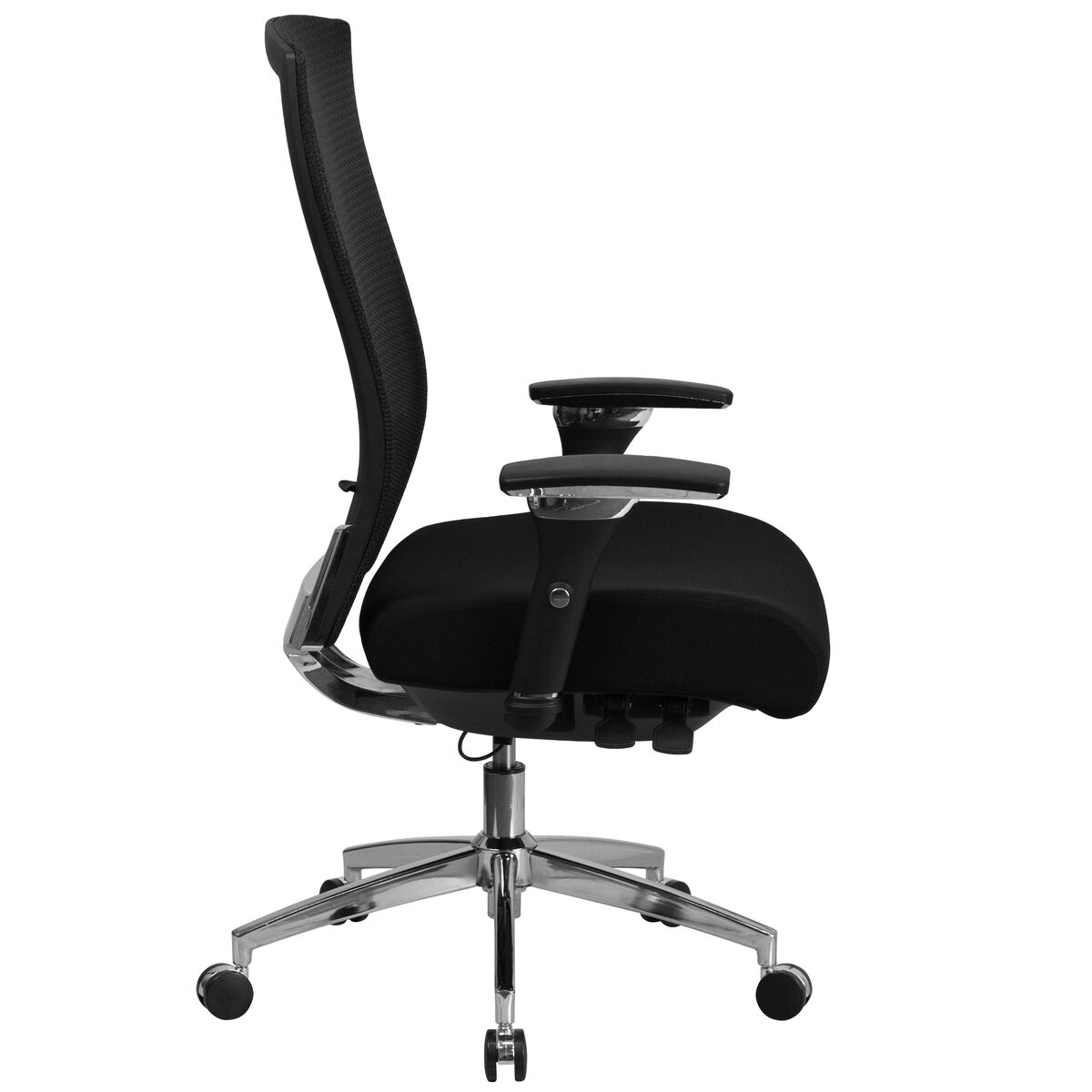 Strange Hercules Series 24 7 Intensive Use 300 Lb Rated Black Mesh Multifunction Ergonomic Office Chair With Seat Slider Ibusinesslaw Wood Chair Design Ideas Ibusinesslaworg