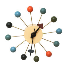 Colored Wood Bubble Wall Clock