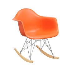 Paris Tower Rocking Chair with Orange Seat
