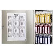 Durable® Locking Key Cabinet - 54-Key - Brushed Aluminum - Silver - 11 3/4 x 4 5/8 x 11