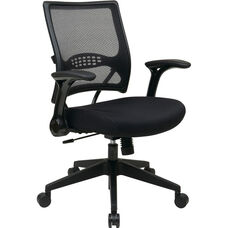 Space Dark Air Grid® Back and Mesh Seat Managers Chair with 2-to-1 Synchro Tilt - Black