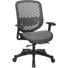 Space Executive DuraFlex Flow-Thru Technology™ Back and Seat Chair with Seat Height Adjustment and Adjustable Arms - Charcoal