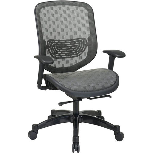 Our Space Executive DuraFlex Flow-Thru Technology™ Back and Seat Chair with Seat Height Adjustment and Adjustable Arms - Charcoal is on sale now.