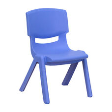 Blue Plastic Stackable School Chair with 10.5