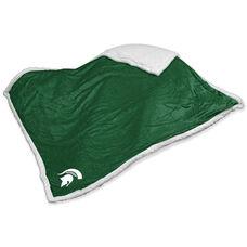 Michigan State University Team Logo Sherpa Throw