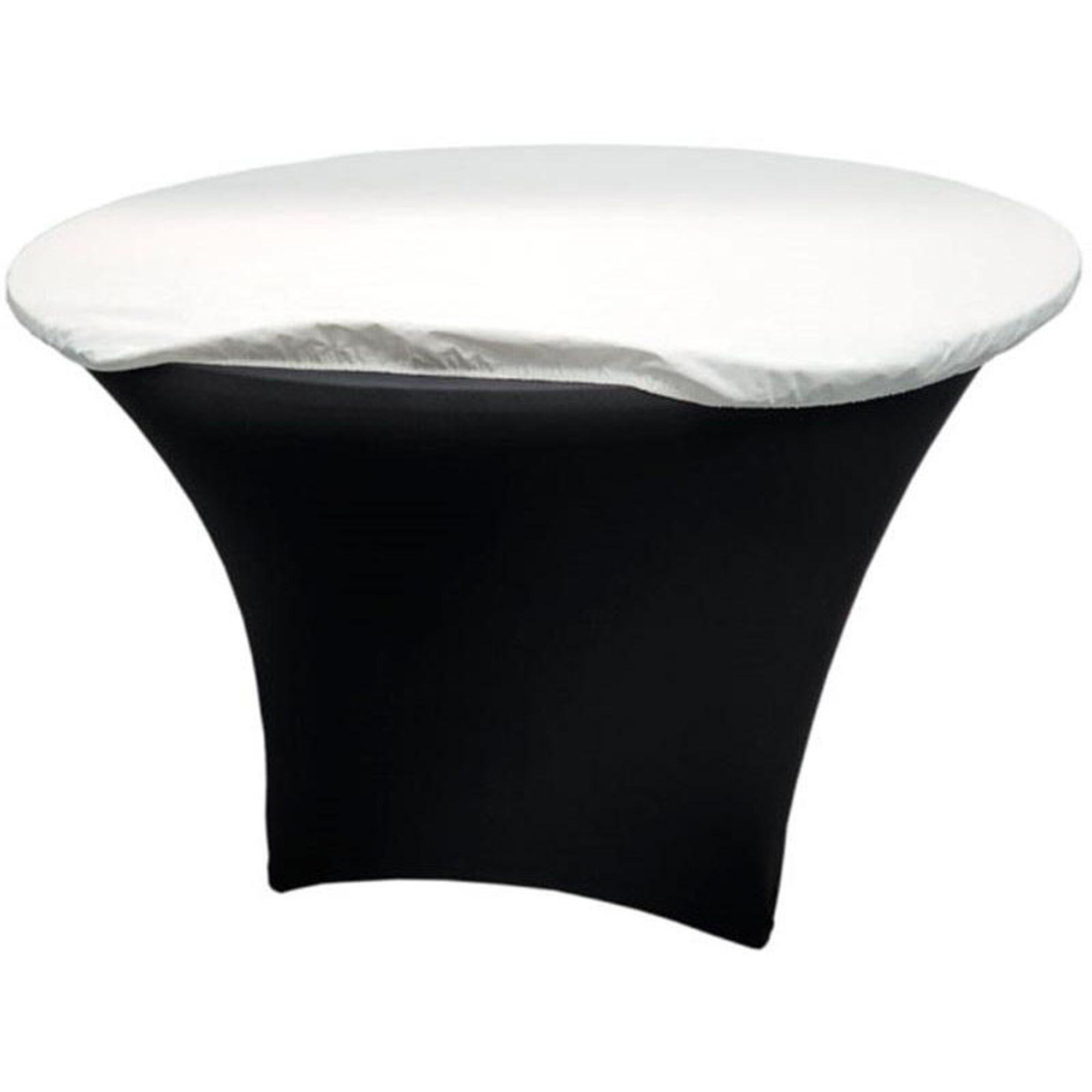 Snap drape 66 39 39 round vinyl felt back table padding for Html table padding