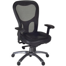 Citi Height Adjustable Mesh Back Executive Swivel Chair with Casters - Black