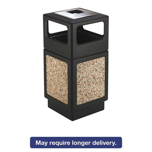 Our Safco® Canmeleon Ash/Trash Receptacle - Square - Aggregate/Polyethylene - 38gal - Black is on sale now.