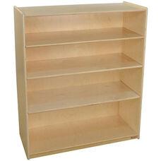 Wooden 4 Shelf Bookcase with 3 Adjustable Shelves - 36